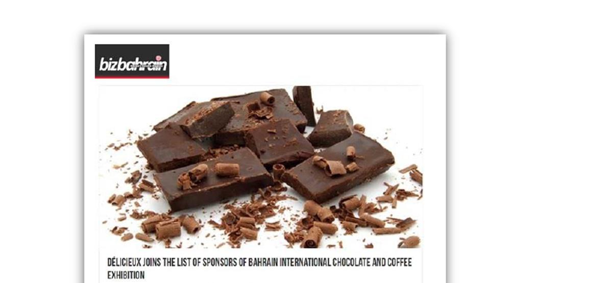 """ديليشوىس"""" تنضم لرعاة معرض البحرين للشوكولاته والقهوة"""""""